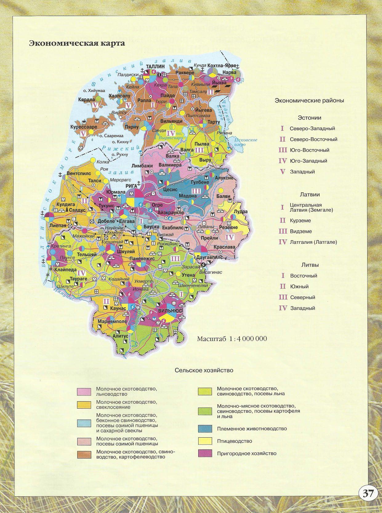 Экономичская карта Эстонии