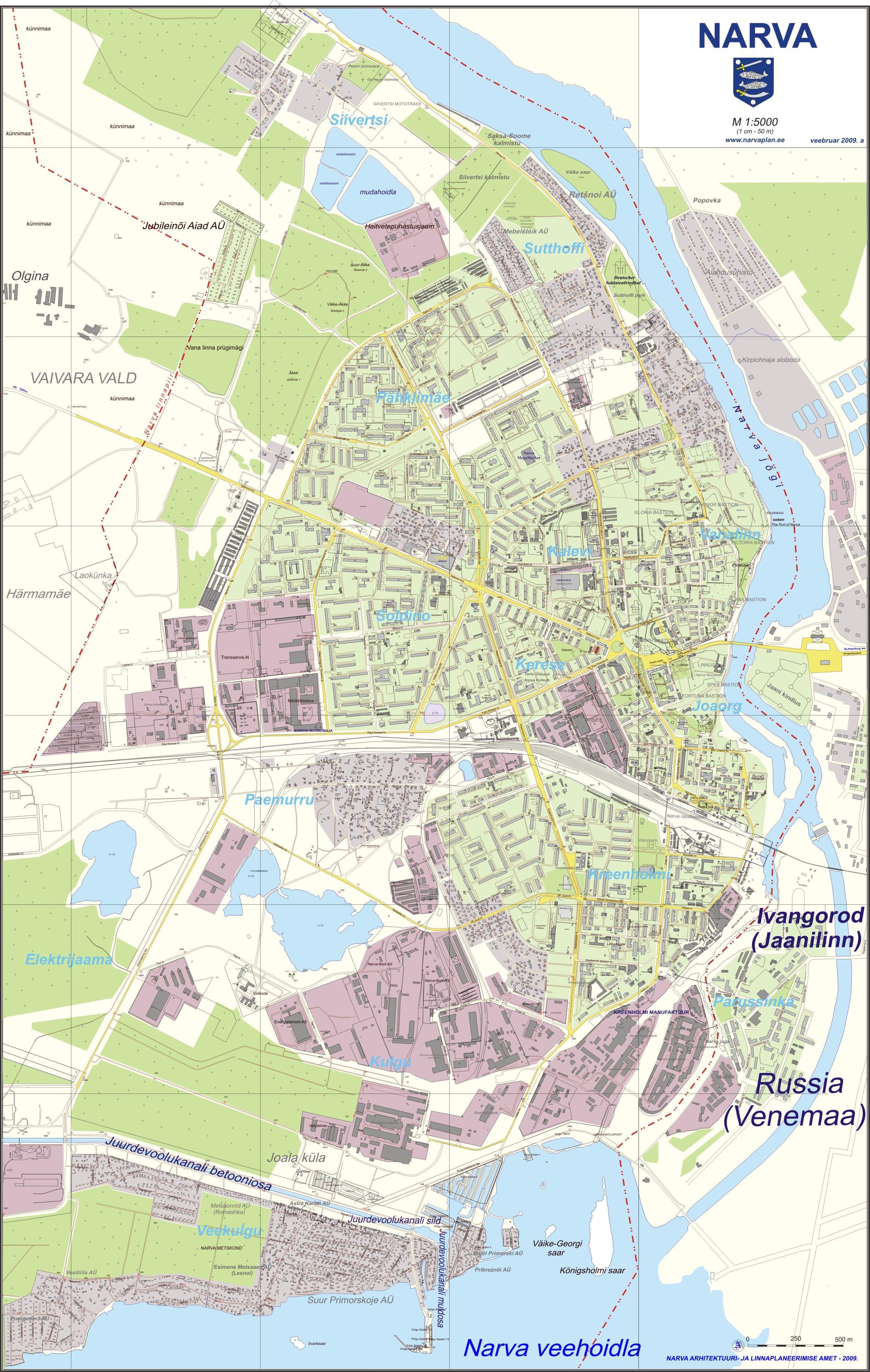 Нарва Карта города